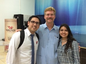 With a dear couple at the Wagner Leadership Institute in Nicaragua