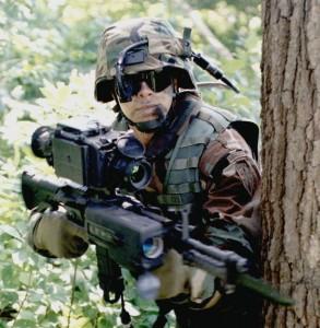 1 A warrior on alert